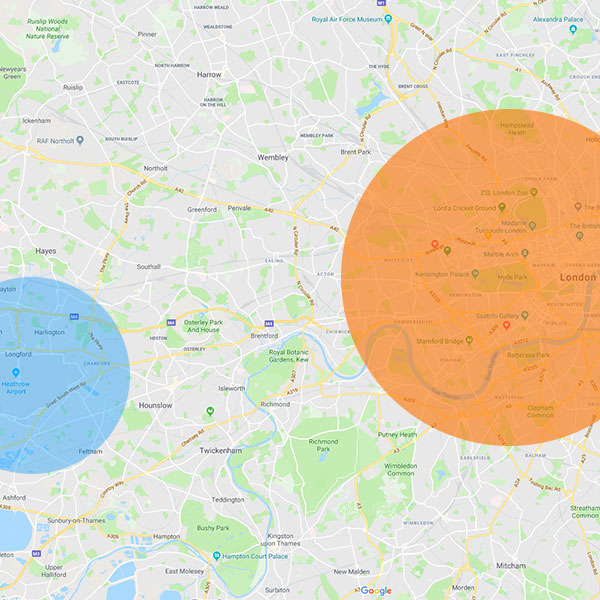 London massage map 2